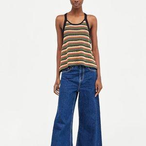 Zara multicolored crochet top